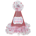 Party Cone Hat Birthday Princess Paper / Fabric Height 22.8 cm