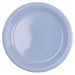 10 Plates Plastic Pastel Blue 22.8cm
