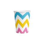 8 Cups Rainbow Chevron Paper  250 ml