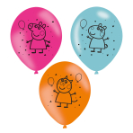 6 Latex Balloons Peppa Pig 23c