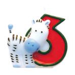 Numeral Candle 6 Safari