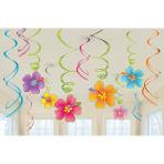 12 Swirl Decorations Hawaiian Foil / Paper 61 cm