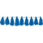Tassel Garland Bright Royal Blue 3 m
