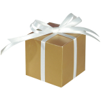 100 Treat Boxes Colourful Wedding  Gold 5.7 x 5.7 x 5.7 cm