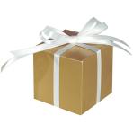 100 Treat Boxes Colourful Wedding  Gold 5.7 x 5.7 x 5.7 cm