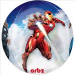 "Orbz ""Avengers"" Foil Balloon Clear, G40, packed"