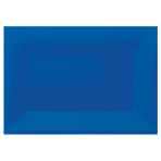 3 Platters Bright Royal Blue Plastic Rectangular 33 x 23 cm