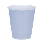 10 Cups Pastel Blue Plastic 355 ml