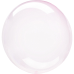 Clearz Crystal Light Pink Foil Balloon S40 packaged