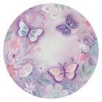8 Plates Flutter Round Paper  22.8 cm