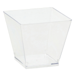 40 Mini Bowls Clear Plastic Squared 59 ml