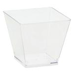 40 Mini Cubes Plastic Clear 59ml