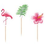 20 Picks Flamingo Paradise Wood 7.5 cm