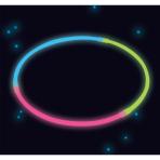4 Glow Necklaces Tri-Colour Plastic 60 cm