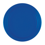 20 Plates Bright Royal Blue Paper Round 22.8 cm