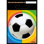 8 Party Bags Championship Soccer Plastic 23.9 x 16.5 cm