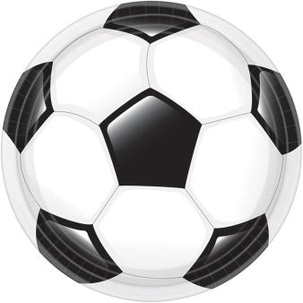 8 Plates Goal Getter Round Papier 23 cm