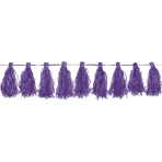 Tassel Garland Purple 3 m