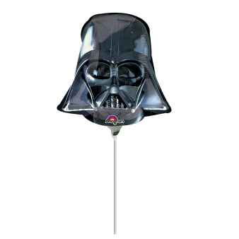 Mini Shape Darth Vader Helmet Foil Balloon A30 Air Filled