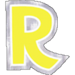 48 Stickers Letter R