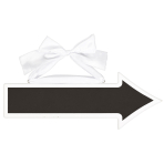 Chalkboard Sign Arrow MDF 41.2 x 15.2 cm