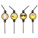 8 Drinking Straws Smiley      Emoticons