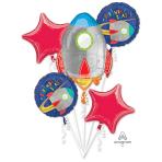 Bouquet Blast off Birthday Foil Balloon P75 Packaged