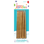 12 Candles Birthday Gold Height 12.7 cm