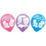 """6 Latex Balloons Shimmer & Shine 22.8 cm / 9"""""""