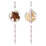 8 Drinking Straws Beautiful Horses Paper
