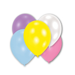 10 Latex Balloons Pearl assorted 27.5 cm / 11""