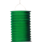 Drop Lantern Green Paper 28 cm