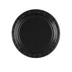 8 Plates Paper Black 17.7 cm