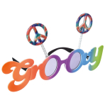 Fun Shades Groovy 60's Plastic / Metal 24.4 x 6.3 cm
