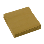 20 Beverage Napkins Gold 25 x 25 cm