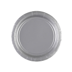 8 Plates Paper Silver 17.7 cm