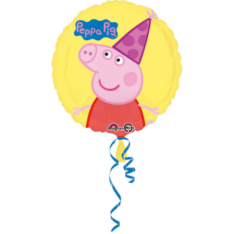 """Standard """"Peppa Pig"""" Foil Balloon round S60 packed 43cm"""