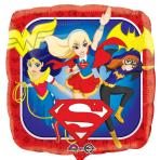 """Standard """"DC Super Hero Girls""""Foil Balloon Square, S60, packed, 43 cm"""