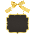 Chalkboard Sign Gold MDF 25.4 x 23.5 cm