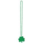 Glitter Shamrock Necklace St. Patrick's Day 81 cm