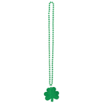 Necklace St. Patrick's Day Glitter Plastic 81.2 cm