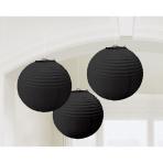3 Lanterns Black Paper 20.4 cm