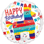 Standard Piñata Party Foil Balloon S40 packaged