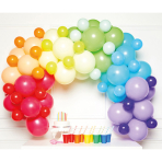 DIY Balloon Garland Rainbow 78 Balloons